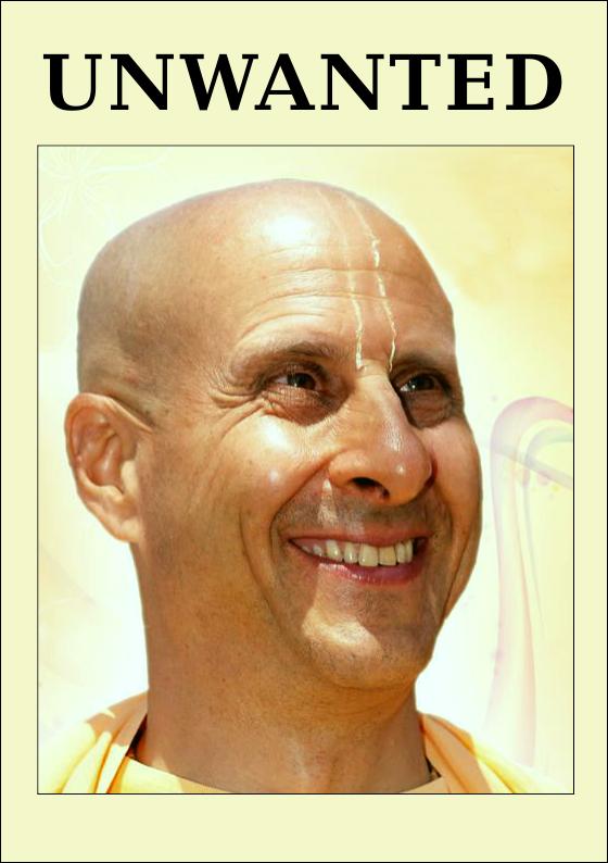 Radhanath Swami Unwanted criminal and slimy creature