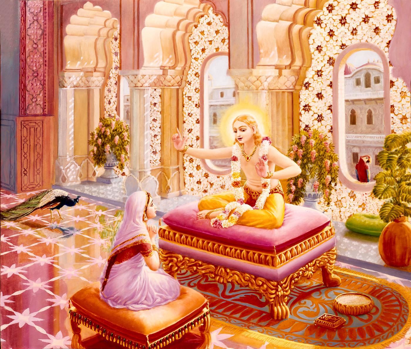 Lord Kapila-Deva instructs Devahuti