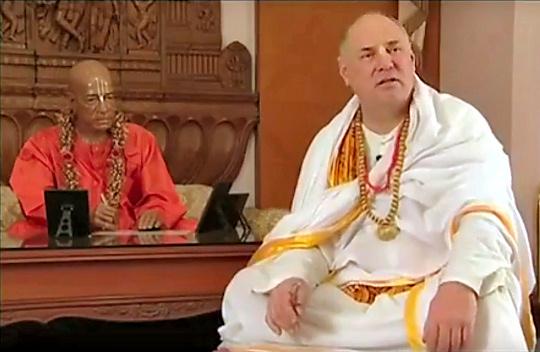 Yasodananda defeating Rocana's SAAS 'Self-Appointed Acarya Sabha' and the LGEP - Living Guru Experimental Project